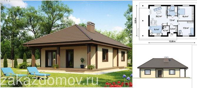 Проекты домов на 2 семьи - готовые польские проекты